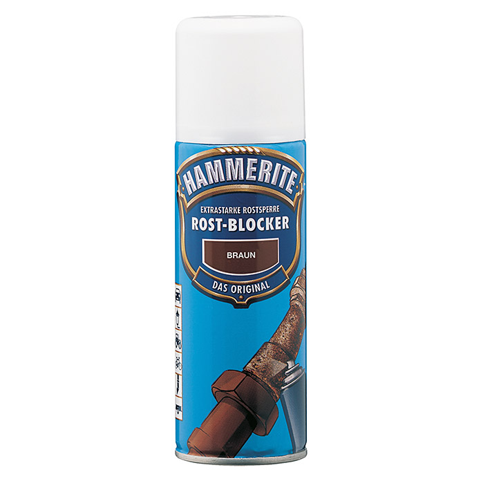 hammerite rost blocker aerosol spray braun 200 ml matt. Black Bedroom Furniture Sets. Home Design Ideas