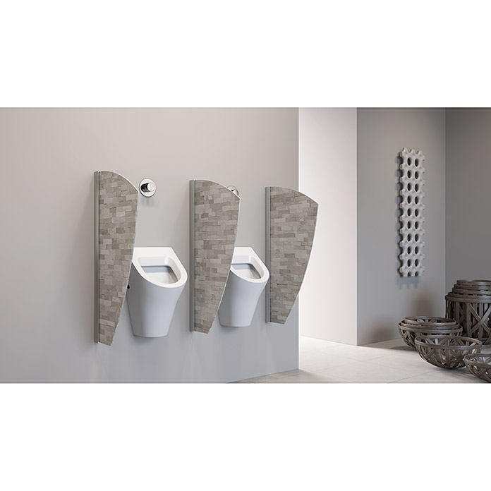 geo urinal trennwand segel 50 x 90 cm aluminium. Black Bedroom Furniture Sets. Home Design Ideas