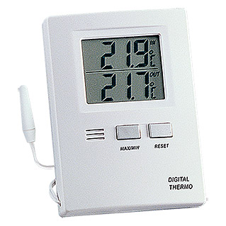 TFA Dostmann Thermometer (Weiß, Digital)