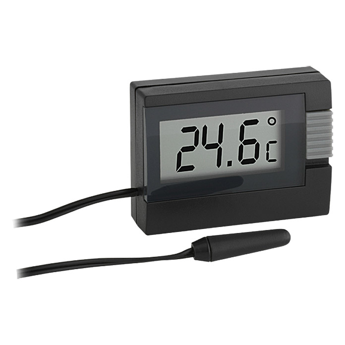 tfa dostmann thermometer schwarz digital bauhaus. Black Bedroom Furniture Sets. Home Design Ideas