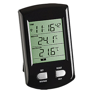 TFA Dostmann Funk-Thermometer Ratio (Digital, Breite: 29 mm)