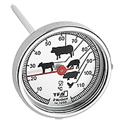 BRATENTHERMOMETER   EDELSTAHL 12X5cm