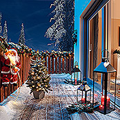 OUTDOORBAUM IM TOPF MIT LED FROSTED