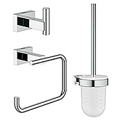 Grohe Essentials Cube WC-Set 3in1 (3-tlg., Chrom, Glänzend)