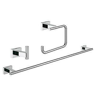 Grohe Essentials Cube Bad-Set 3in1 Variante 1 (3-tlg., Chrom, Glänzend)