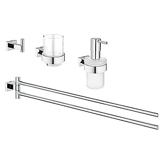 Grohe Essentials Cube Bad-Set 4in1 Variante 1 (4-tlg., Chrom, Glänzend)