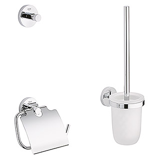 Grohe Essentials WC-Set 3in1 (3-tlg., Chrom, Glänzend)