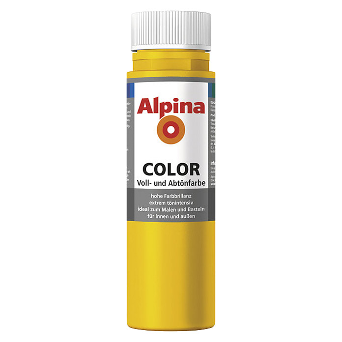 Alpina Voll- und Abtönfarbe Color (Lucky Yellow, 750 ml)