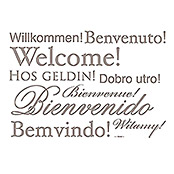 DEKO-STICKER WELCOME11 TLG. 50X70 cm