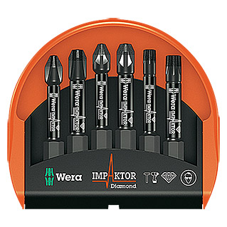 Wera Bit-Set Mini-Check Impaktor 4 (6-tlg.)