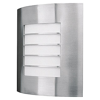 Philips Aplique exterior Oslo (1 luz, 60 W, Blanco/Acero inoxidable, IP44)