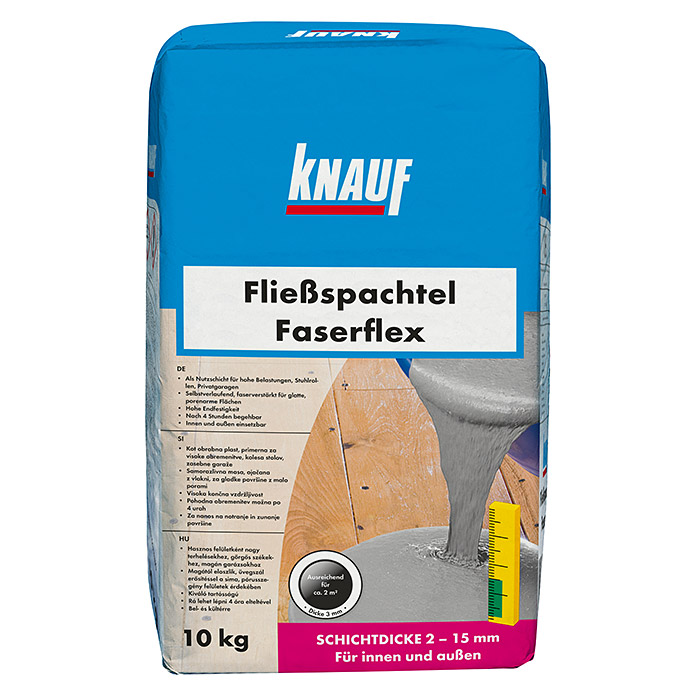 knauf flie spachtel faserflex 10 kg schichtdicke 2 15. Black Bedroom Furniture Sets. Home Design Ideas