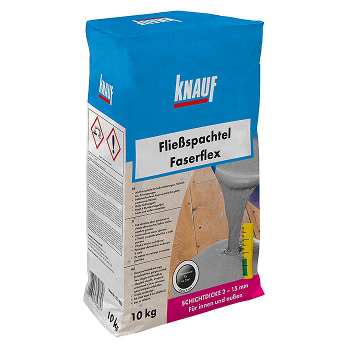 knauf flie spachtel faserflex 10 kg schichtdicke 2 15 mm bauhaus sterreich. Black Bedroom Furniture Sets. Home Design Ideas