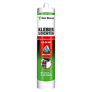 Den Braven Kleb- & Dichtmasse All in One (Schwarz, 290 ml)