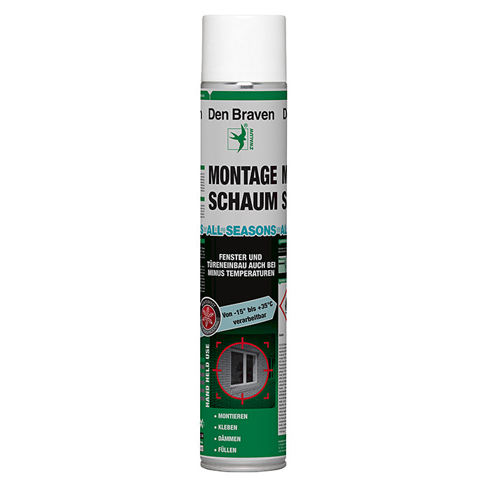 Den Braven PU-Montageschaum All Seasons (750 ml)