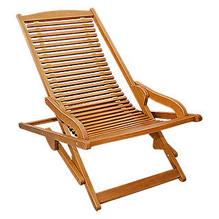 Sunfun Diana Tumbona reclinable (Marrón natural, Ancho: 62 cm)