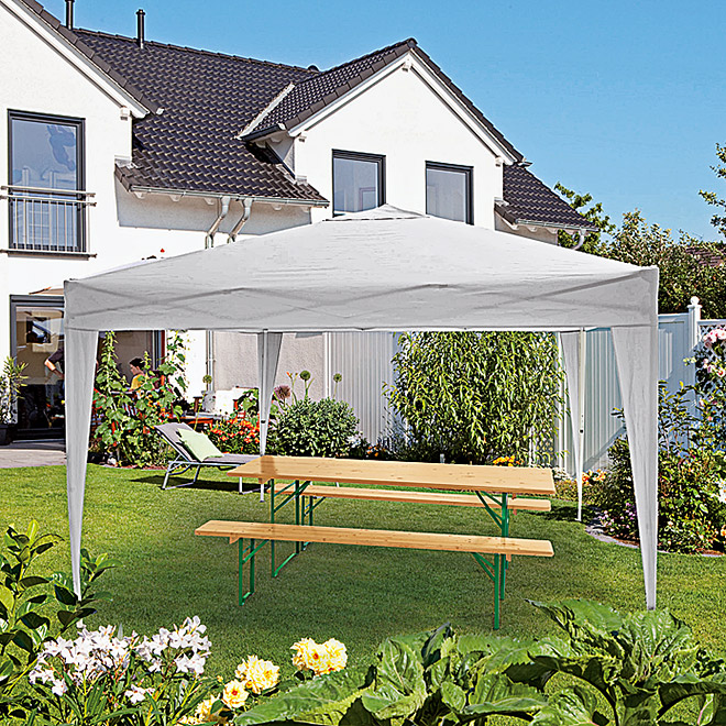 Sunfun Faltpavillon Easy Up (Grau, 300 x 300 cm)