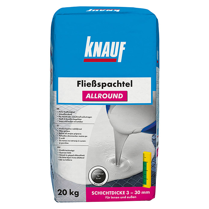 knauf flie spachtel allround 20 kg schichtdicke 3 30. Black Bedroom Furniture Sets. Home Design Ideas