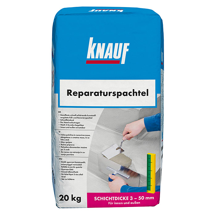knauf reparaturspachtel 20 kg bauhaus sterreich. Black Bedroom Furniture Sets. Home Design Ideas