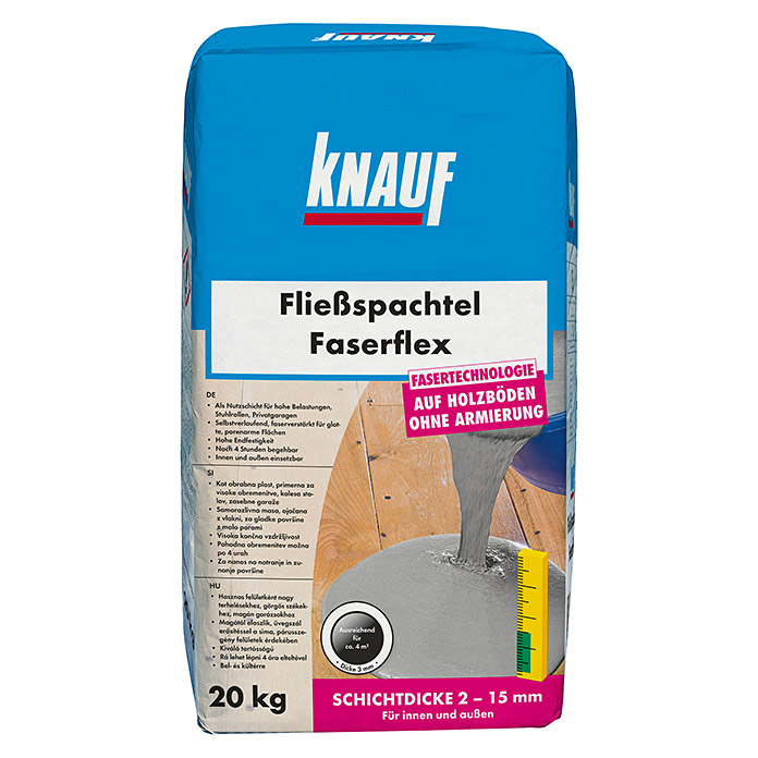 knauf flie spachtel faserflex 20 kg schichtdicke 2 15. Black Bedroom Furniture Sets. Home Design Ideas