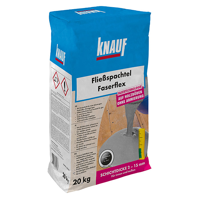 knauf flie spachtel faserflex 20 kg schichtdicke 2 15 mm bauhaus sterreich. Black Bedroom Furniture Sets. Home Design Ideas