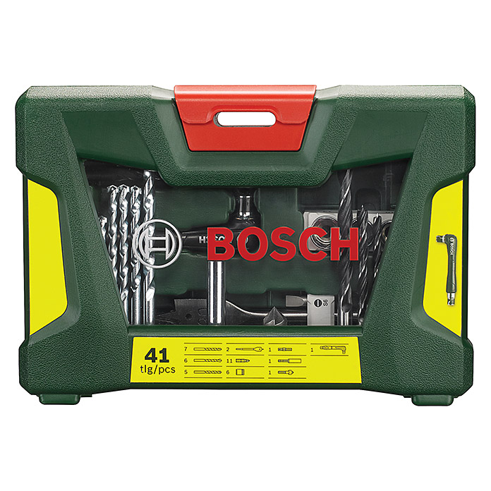 bosch bohrer bit set 41 tlg 2546 bohrer stein beton bcda zubeh bohrm bohrhaemmer. Black Bedroom Furniture Sets. Home Design Ideas