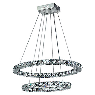 Tween Light LED-Pendelleuchte Crystal (2-flammig, 30 W, Kaltweiß, Höhe: 128 cm)