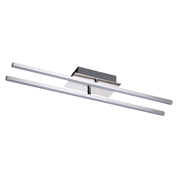 Tween Light LED-Deckenleuchte (16 W, Warmweiß, 61 x 10,5 x 7,5 cm, Chrom)