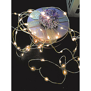 Globo Guirnalda luminosa LED Venuto (Para interior, 100 luces, Longitud del cable: 9,9 m, Cobre)
