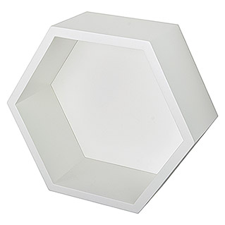 Duraline Estante de pared Honey Cube (L x An x Al: 27 x 27 x 12 cm, Carga soportada: 5 kg, Blanco)