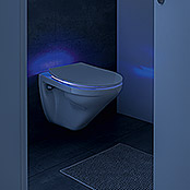 poseidon wc sitz cool light mit absenkautomatik integrierte led beleuchtung duroplast wei. Black Bedroom Furniture Sets. Home Design Ideas