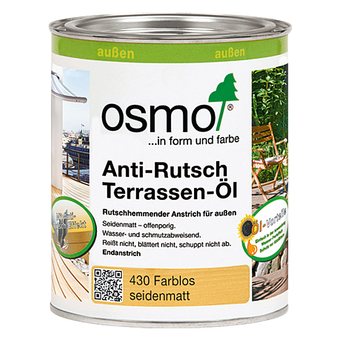 osmo anti rutsch terrassen l 750 ml seidenmatt bauhaus. Black Bedroom Furniture Sets. Home Design Ideas