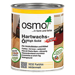 Osmo High Solid Hartwachs-Öl Rapid 3032 (Farblos, 750 ml)