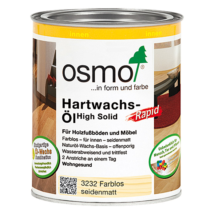 Osmo High Solid Hartwachsöl Rapid (Farblos, 750 ml, Seidenmatt)