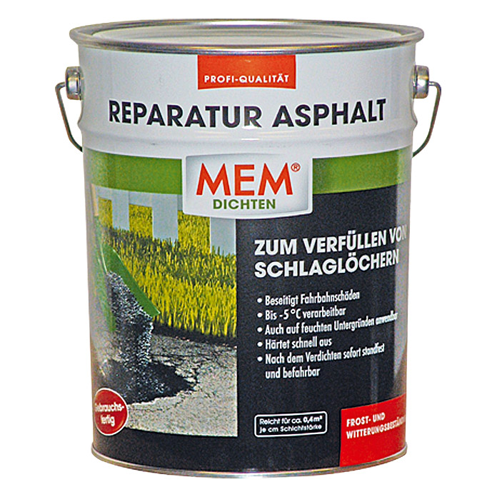 mem reparatur asphalt 10 kg bauhaus. Black Bedroom Furniture Sets. Home Design Ideas