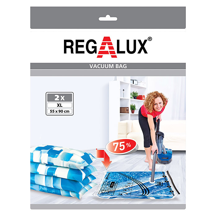 Regalux Vakuum-Beutel-Set XL (2 Stk., L x B: 90 x 55 cm, Transparent)