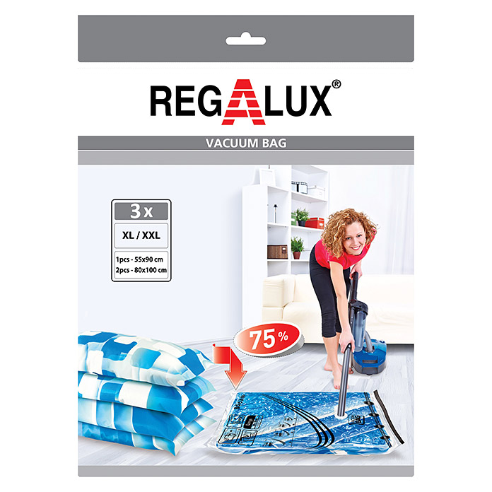 Regalux Vakuum-Beutel-Set XL / XXL (3 Stk., Transparent)