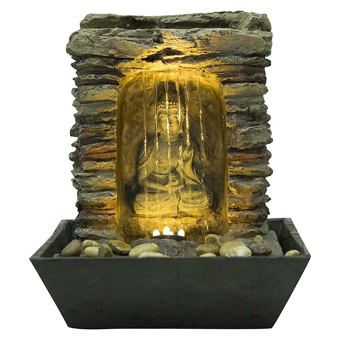 silex zimmerbrunnen buddha l x b x h 22 x 22 x 27 cm. Black Bedroom Furniture Sets. Home Design Ideas
