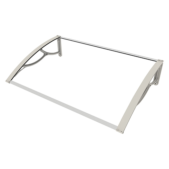 Licht gebogen deurluifel Cover Up Elite (1.200 x 800 mm, Kleur drager: Grijs)