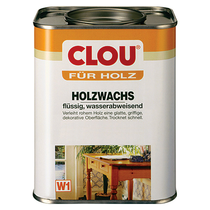 clou holzwachs w1 750 ml farblos bauhaus. Black Bedroom Furniture Sets. Home Design Ideas