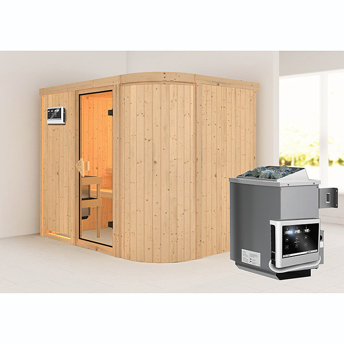 karibu systemsauna titania 4 mit saunaofen 9 kw inkl. Black Bedroom Furniture Sets. Home Design Ideas