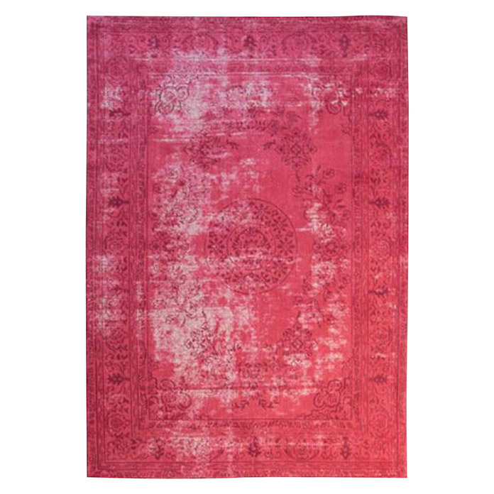 Kayoom Teppich Select 375 (Rot, L x B: 170 x 120 cm, 50% Baumwolle, 50% Polyester Chenille) -