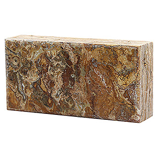 Fuchs Design Natursteinziegel Crystal Collection NatureTouch (Rain Forest Brown, Poliert, 20 x 10 x 5 cm)