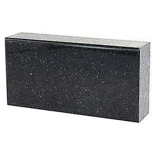 Fuchs Design Natursteinziegel Crystal Collection NatureTouch (Galaxy Black, Poliert, 20 x 10 x 5 cm)