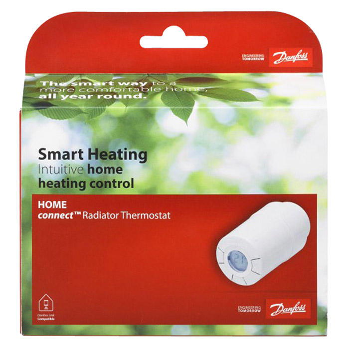 Danfoss Link Thermostatkopf Connect (Mit Display, Weiß)