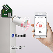Danfoss Thermostatkopf Eco (Drehbares Display, Bluetoothsteuerung per App)