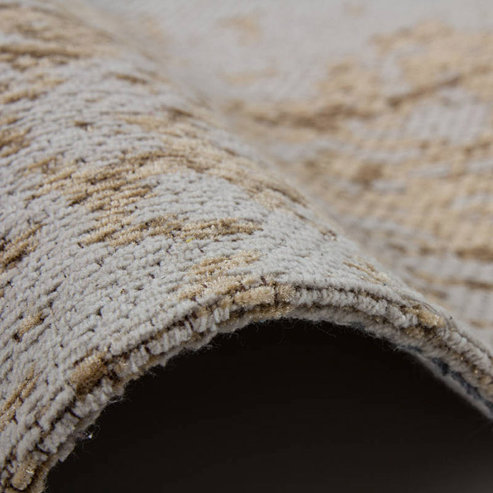 Kayoom Teppich Select 275 (Sand, L x B: 230 x 160 cm, 50% Baumwolle, 50% Polyester Chenille)