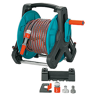 Gardena Classic Portamangueras manual de pared Kit 50 (Longitud del tubo flexible: 20 m)