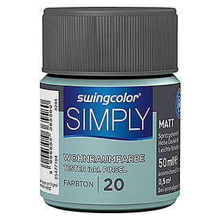 swingcolor Muurverf SIMPLY Tester (Blauw - Nr. 20, 50 ml, Mat)