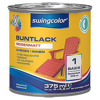 swingcolor Mix Buntlack (Basismischfarbe, 375 ml, Seidenmatt)
